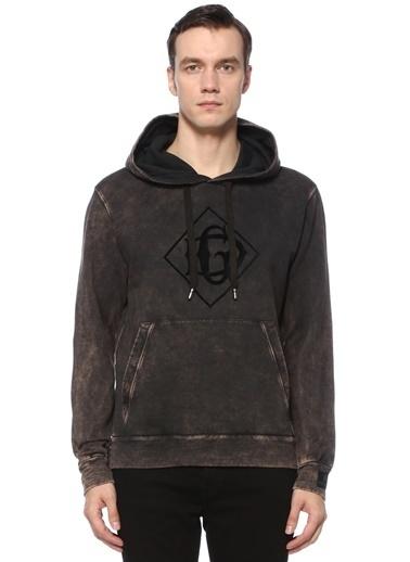 Dolce&Gabbana Dolce&Gabbana 101593072 Kapüşonlu Bağcıklı Kanguru Cepli Logo Nakışlı Pamuk Erkek Sweatshırt Siyah